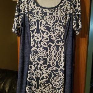 Cato 18w Denim Look Dress